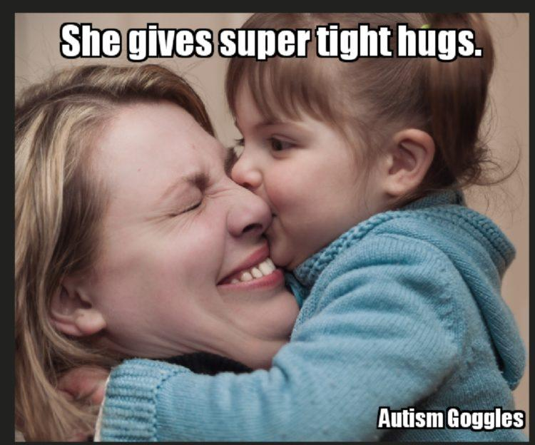 SHE GIVES SUPER TIGHT HUGS