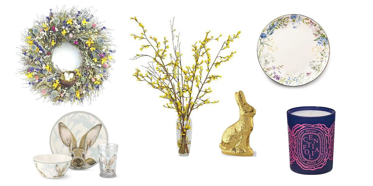 "<p>Celebrate the spring holiday and spruce up your home with seasonal decorations. Whether your hosting a large group or <a rel=""nofollow"" href=""https://www.townandcountrymag.com/leisure/dining/g18065431/best-easter-brunch-nyc/"">reserving a spot at a brunch special</a>, embrace <a rel=""nofollow"" href=""https://www.townandcountrymag.com/society/a19665581/blake-lively-martha-stewarts-easter-party-friendship/"">your inner- Martha Stewart</a> with these extra festive touches for your home.</p><p><br>From table settings and floral arrangements to serving-ware and home decor you can enjoy all year round, here are the best decorations for your 2019 Easter celebrations. </p>"