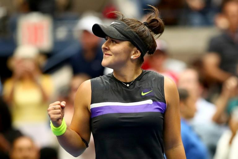 Bianca Andreescu, pictured here at the US Open, achieved her 14th victory in a row at the China Open first round (AFP Photo/CLIVE BRUNSKILL)