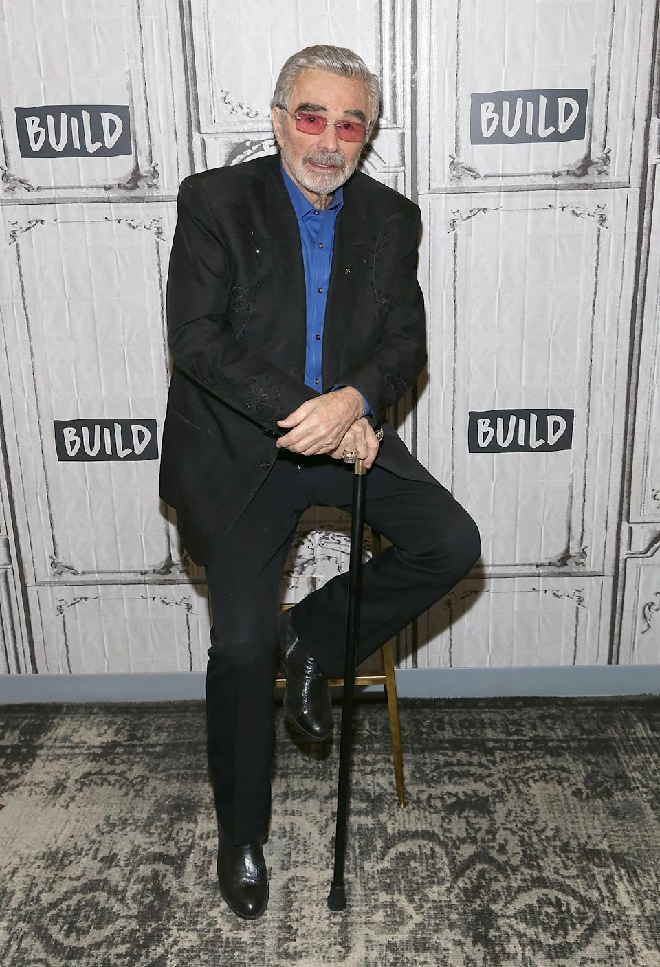 Burt Reynolds visits Build Series on March 15, 2018 in New York. (Photo: Getty Images)