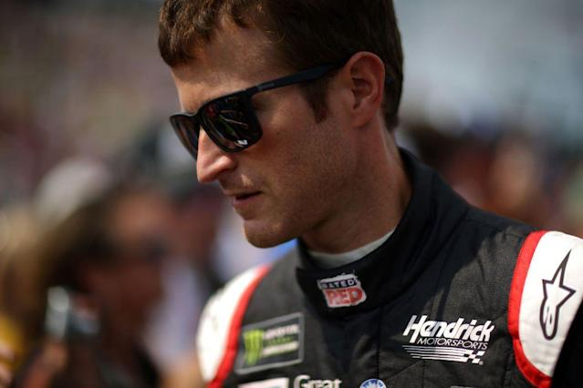 """<a class=""""link rapid-noclick-resp"""" href=""""/nascar/sprint/drivers/396/"""" data-ylk=""""slk:Kasey Kahne"""">Kasey Kahne</a>'s win at Indianapolis got him into the Cup Series playoffs. He finished 21st at Chicago on Sunday. <br>"""
