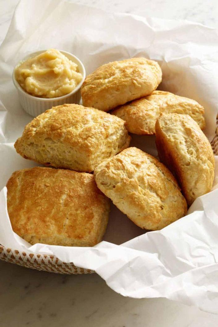 """<p>Who can turn down a bite of this Southern classic?</p><p><em><a href=""""https://www.womansday.com/food-recipes/food-drinks/recipes/a13249/buttermilk-biscuits-recipe-wdy0315/"""" rel=""""nofollow noopener"""" target=""""_blank"""" data-ylk=""""slk:Get the Buttermilk Biscuits recipe"""" class=""""link rapid-noclick-resp"""">Get the Buttermilk Biscuits recipe</a>.</em></p>"""