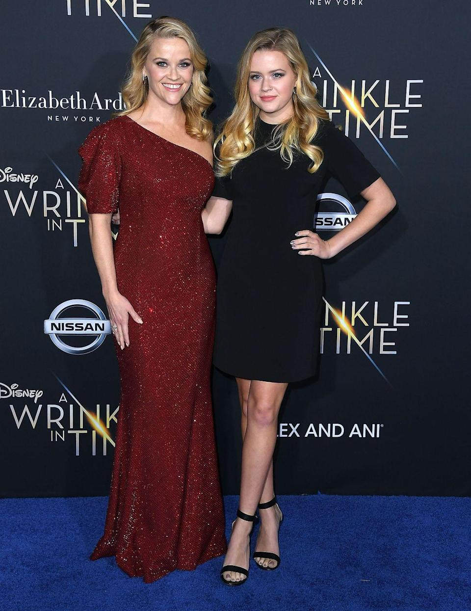 """<p>Reese<span class=""""redactor-invisible-space""""> and Ava pose together at the LA p</span>remiere Of Disney's A Wrinkle In Time</p>"""
