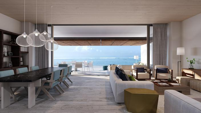 """With an emphasis on Mexican contemporary and sophisticated architecture, Montage Los Cabos—which opens its doors at the end of May—resembles a cozy bungalow community. The hotel lies in the """"Golden Corridor"""" between Cabo San Lucas and San Jose del Cabo. The theme of water echoes throughout the 122 rooms and 52 residences, and the design, done by Bernardi + Peschard, draws inspiration from Mexican and pre-Hispanic communities with tones of gold, beige, and taupe. <a href=""""https://www.montagehotels.com/"""" rel=""""nofollow noopener"""" target=""""_blank"""" data-ylk=""""slk:montagehotels.com"""" class=""""link rapid-noclick-resp"""">montagehotels.com</a>"""