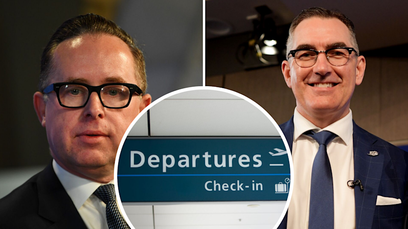 Pictured: Qantas CEO Alan Joyce, Virgin Australia Paul Scurrah. Images: Getty