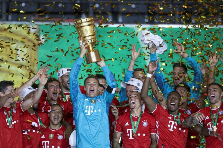 Neuer lifts the German Cup on Saturday