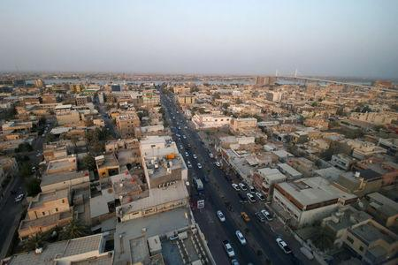 A general a view of the city after a week of violent protests in Basra