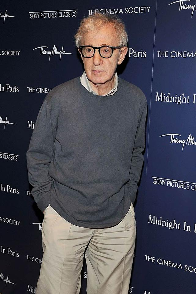 """While audiences love his rom-coms like """"Annie Hall"""" and """"Midnight in Paris,"""" it's clear they're not fans of director Woody Allen's real-life romance with his wife of 14 years, Soon-Yi Previn, who also happens to be the adopted daughter of his former flame Mia Farrow. Those polled ranked Woody eighth on the creepy list, not only because of his and Soon-Yi's previous familial ties, but also thanks to the couple's 33-year age difference! (5/17/2011)"""
