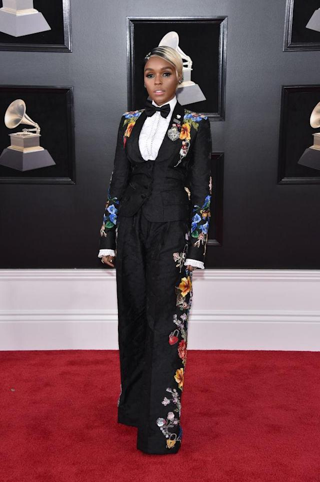 <p>Janelle Monae attends the 60th Annual Grammy Awards at Madison Square Garden in New York on Jan. 28, 2018. (Photo: John Shearer/Getty Images) </p>