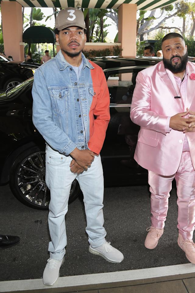 <p>A customized Canadian tuxedo with bright white sneakers.</p>