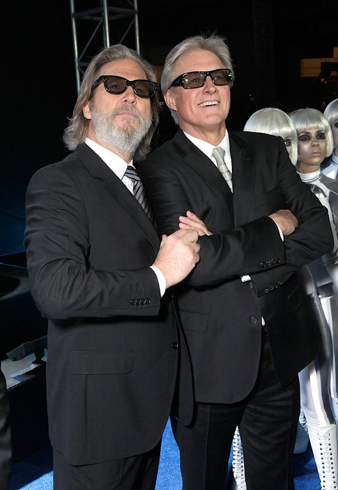 """<a href=""""http://movies.yahoo.com/movie/contributor/1800011634"""">Jeff Bridges</a> and Bruce Boxlietner attend the Los Angeles premiere of <a href=""""http://movies.yahoo.com/movie/1810096458/info"""">TRON: Legacy</a> on December 11, 2010."""
