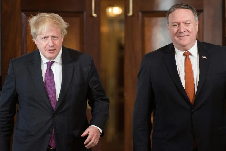 "US Secretary of State Mike Pompeo's meetings with British Prime Minister Boris Johnson threaten to become a damage limitation exercise for the ""special relationship"" (AFP Photo/JIM WATSON)"