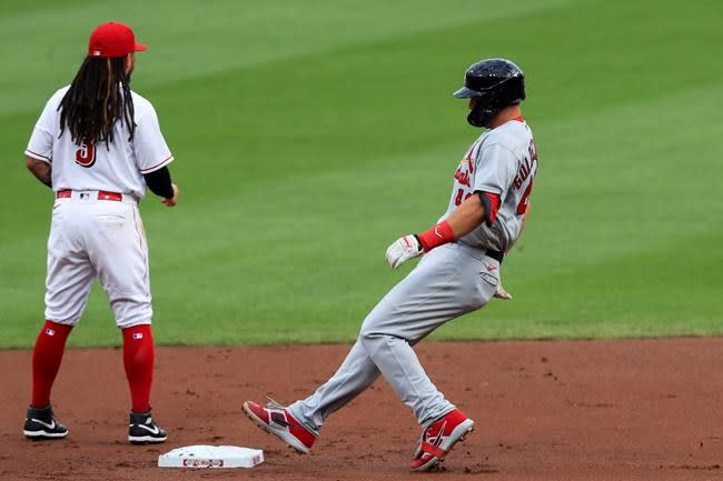 DeJong grand slam helps Cardinals hold off Reds 7-5