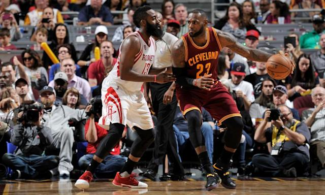 "<span class=""element-image__caption"">James Harden and LeBron James headline this year's All-NBA first team.</span> <span class=""element-image__credit"">Photograph: David Liam Kyle/NBAE/Getty Images</span>"