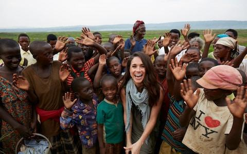 Meghan Markle in Rwanda with charity World Vision in 2017 - Credit: PA