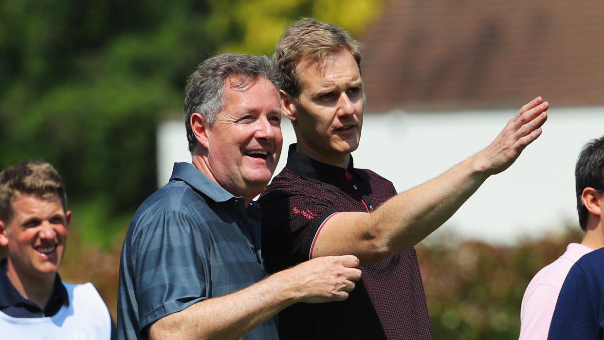 Dan Walker and Piers Morgan would frequently spar on social media over the ratings for their breakfast shows. (Warren Little/Getty Images)