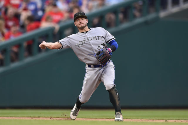 Josh Donaldson is back on the disabled list in Toronto, this time for a calf injury. (AP)