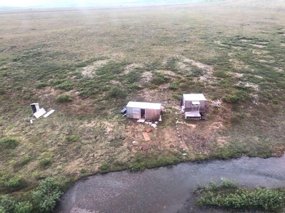 A remote mining camp near Nome, Alaska, where a Coast Guard Air Station Kodiak aircrew rescued the survivor of a bear attack on July 16, 2021.