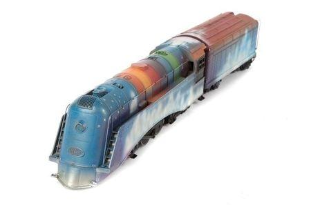 Handout photo of a model train which is part of a collection of recording artist Neil Young's most prized possessions being put up for auction by Julien's Auctions in Los Angeles