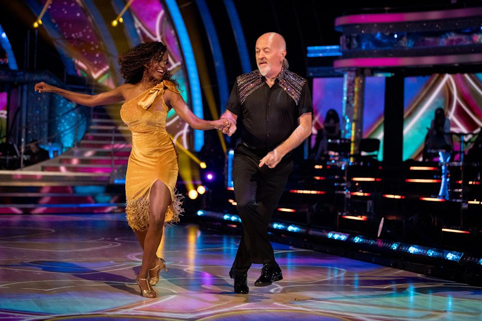 Oti Mabuse won Strictly with Bill Bailey in 2020. (BBC/Guy Levy)