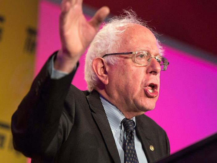 Senator Bernie Sanders accuses Donald Trump of being a