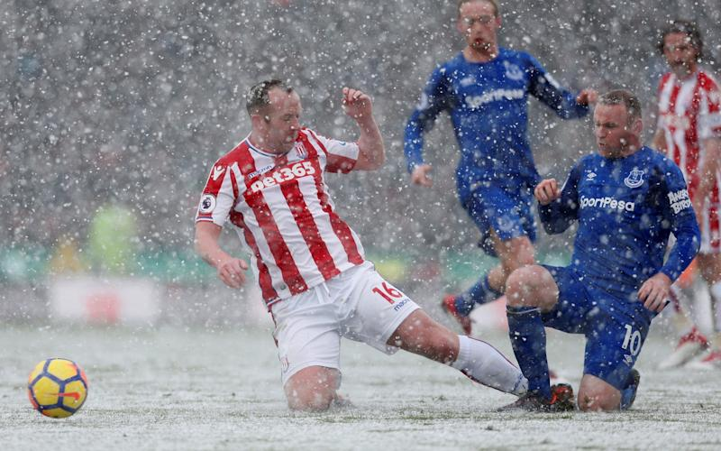 Charlie Adam received a straight red card for a late challenge on Wayne Rooney - Action Images via Reuters