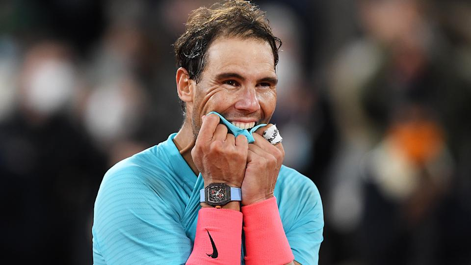 Rafael Nadal cruised past Novak Djokovic to win his 13th French Open title earlier this month. (Photo by Shaun Botterill/Getty Images)