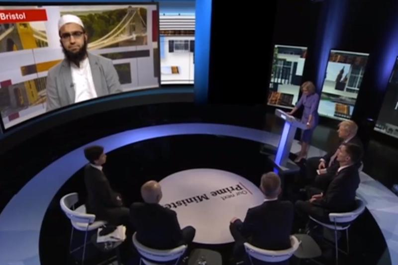 The Conservative candidates were asked questions by Imam Abdullah Patel