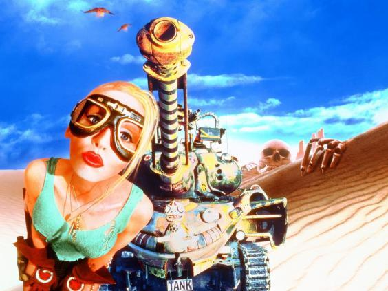 Turret syndrome: promotional artwork for 'Tank Girl' (Moviestore/Shutterstock)