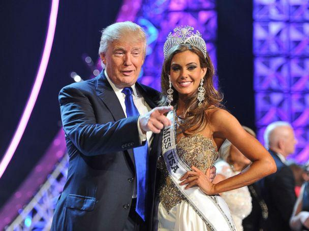 PHOTO: In this June 16, 2013 file photo, Donald Trump and Miss Connecticut USA Erin Brady pose onstage after Brady won the 2013 Miss USA pageant in Las Vegas. (Jeff Bottari/AP Photo)