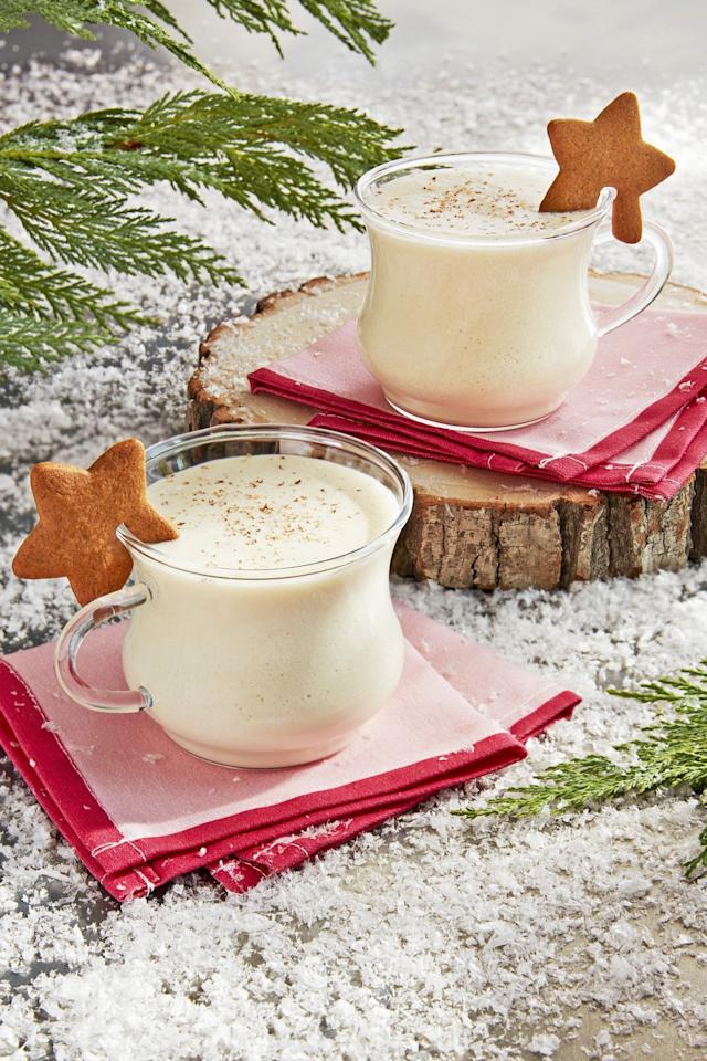 """<p>'Tis the season for all of your favorite holiday flavors! <a href=""""https://www.countryliving.com/food-drinks/g3604/gingerbread-cookie-recipes/"""" target=""""_blank"""">Gingerbread</a> and <a href=""""https://www.countryliving.com/food-drinks/g2759/christmas-candy-recipes/"""" target=""""_blank"""">candy cane</a> might dominate store aisles, but we're partial to putting eggnog into as many recipes as we can. Though the <a href=""""https://www.countryliving.com/food-drinks/g2768/christmas-cocktails/"""" target=""""_blank"""">cold drink</a> is best known for, well, drinking, it's actually an ingredient you can add to <a href=""""https://www.countryliving.com/food-drinks/g1036/easy-christmas-desserts/"""" target=""""_blank"""">many dessert</a>s to give them a kick of <a href=""""https://www.countryliving.com/christmas-ideas/"""">Christmas</a> flavor. <a href=""""https://www.countryliving.com/food-drinks/g2806/best-christmas-cakes/"""" target=""""_blank"""">Christmas cakes</a> are all the more sweeter with eggnog added in, mornings get brighter when <a href=""""https://www.countryliving.com/food-drinks/g1557/christmas-brunch-menu/"""" target=""""_blank"""">eggnog French toast</a> is on the menu, and nights by the <a href=""""https://www.countryliving.com/home-design/decorating-ideas/tips/g1251/trim-christmas-trees-1208/"""" target=""""_blank"""">Christmas tree</a> feel a little more cozy with a plate of eggnog <a href=""""https://www.countryliving.com/food-drinks/g647/holiday-cookies-1208/"""" target=""""_blank"""">cookies</a> to nosh on. The bottom line? When it comes to the holidays, you should absolutely put all your eggnog in one basket. (Sorry, we had to.) <a href=""""https://www.countryliving.com/diy-crafts/g2781/country-christmas-decorations/"""" target=""""_blank"""">Merry Christmas</a>! </p>"""
