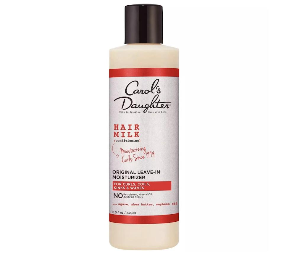 <p><span>Carol's Daughter Hair Milk Original Leave-In Moisturizer</span> ($12) contains moisturizing oils and butters to nourish hair, bring down frizz, and define curls.</p>