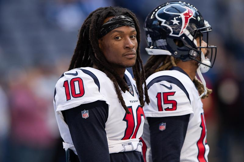 DeAndre Hopkins supported a petition calling for the removal of a former U.S. vice president's name at a Clemson program. (Photo by Zach Bolinger/Getty Images)