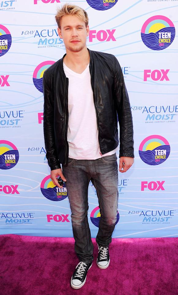 Actor Chord Overstreet arrives at the 2012 Teen Choice Awards at Gibson Amphitheatre on July 22, 2012 in Universal City, California.