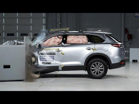 """<p>The biggest vehicle Mazda sells, the three-row <a href=""""https://www.caranddriver.com/mazda/cx-9"""" rel=""""nofollow noopener"""" target=""""_blank"""" data-ylk=""""slk:Mazda CX-9"""" class=""""link rapid-noclick-resp"""">Mazda CX-9</a> has been one of our favorites for a while, and it is partly because of the seven-passenger SUV's luxurious trimmings. The IIHS rated the CX-9 Good on all six crash tests and headlight illumination. It also received a Superior rating for front crash prevention for vehicle-to-vehicle collision mitigation. Its vehicle-to-pedestrian avoidance systems scored an Advanced rating. </p><p><a class=""""link rapid-noclick-resp"""" href=""""https://www.caranddriver.com/mazda/cx-9"""" rel=""""nofollow noopener"""" target=""""_blank"""" data-ylk=""""slk:MORE CX-9 INFO"""">MORE CX-9 INFO</a></p><p><a href=""""https://www.youtube.com/watch?v=mLAs3yq3ZpU&feature=emb_title"""" rel=""""nofollow noopener"""" target=""""_blank"""" data-ylk=""""slk:See the original post on Youtube"""" class=""""link rapid-noclick-resp"""">See the original post on Youtube</a></p>"""