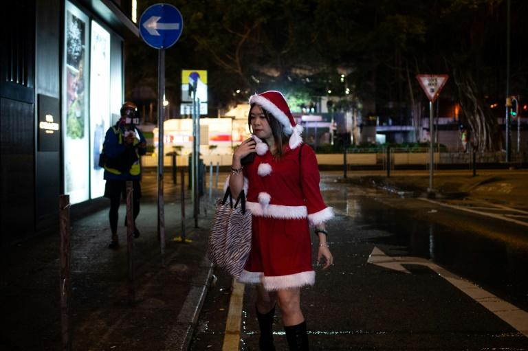 Christmas has been distinctly muted in Hong Kong because of the unrest