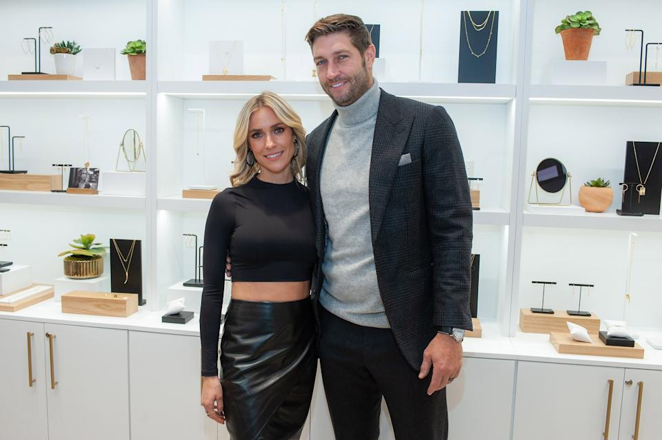 Kristin Cavallari opens up about co-parenting with estranged husband, Jay Cutler. Here they are in 2019.