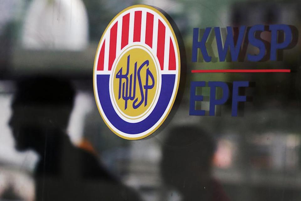 The Employees' Provident Fund (EPF) logo is seen at its headquarters in Kuala Lumpur September 5, 2019. — Reuters pic
