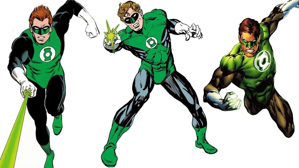Green Lantern costumes in comics through the ages