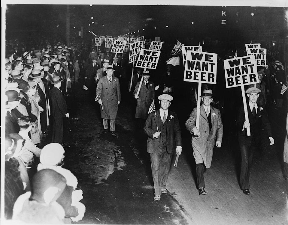"<p>During Prohibition in the U.S., federal officials <a href=""https://slate.com/technology/2010/02/the-little-told-story-of-how-the-u-s-government-poisoned-alcohol-during-prohibition.html"" rel=""nofollow noopener"" target=""_blank"" data-ylk=""slk:ordered industrial alcohol manufacturers to &quot;denature&quot; their products"" class=""link rapid-noclick-resp"">ordered industrial alcohol manufacturers to ""denature"" their products</a> with chemicals like kerosene, iodine, and chloroform, which not only made the alcohol taste worse than it already did, but it also often made it deadly. Around 1927, the Treasury Department also told manufacturers to add more methyl alcohol to their product, so that it comprised 10 percent of the total products, according to Slate.</p><p>Once Prohibition ended in 1933, some estimates accuse the government of being responsible for the deaths of 10,000 people through its alcohol poisoning program.</p>"