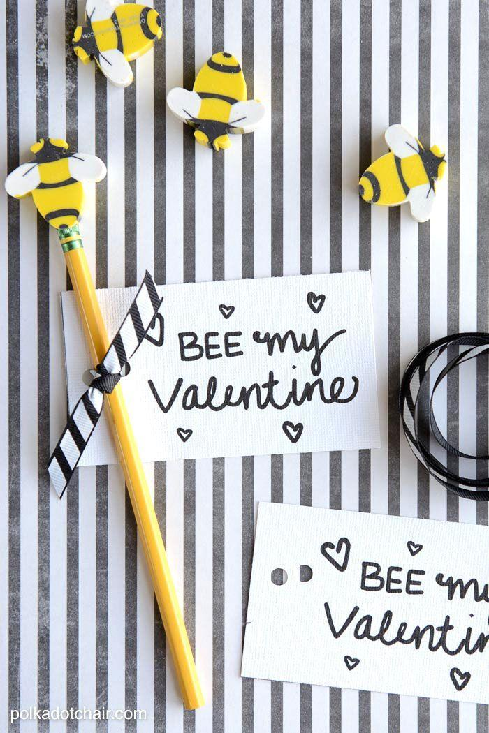 """<p>Your friend won't """"beelieve"""" how thoughtful you are when you gift her these bee-themed cards and pencils. </p><p><strong>Get the tutorial at <a href=""""http://www.polkadotchair.com/2015/01/bee-valentine.html/"""" rel=""""nofollow noopener"""" target=""""_blank"""" data-ylk=""""slk:Polkadot Chair"""" class=""""link rapid-noclick-resp"""">Polkadot Chair</a>. </strong></p>"""