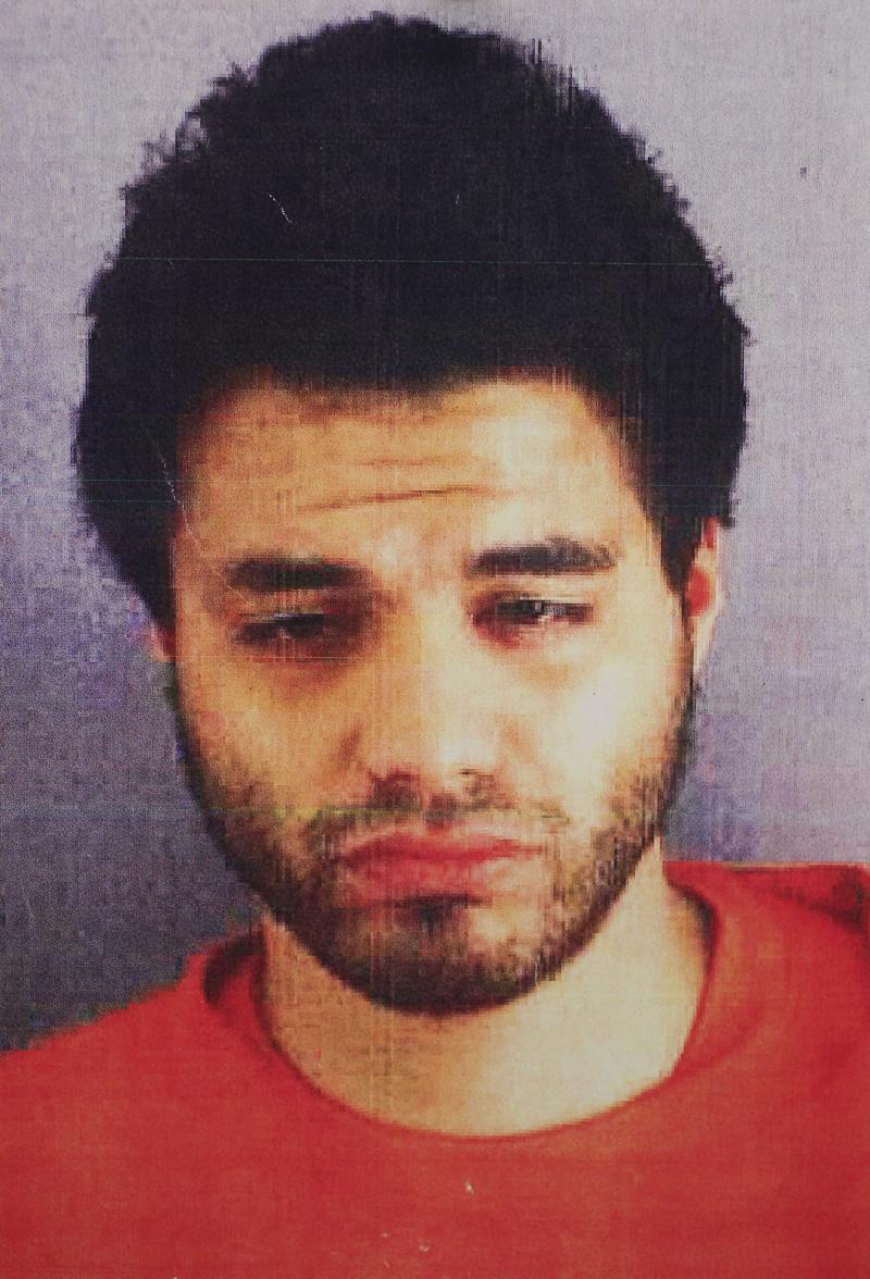 FILE -  This file booking photo originally released by the San Francisco District Attorney on Oct. 27, 2011 shows Mark Lugo, who has just finished a 138-day sentence for snatching a $275,000 Picasso sketch off a San Francisco art gallery wall. Lugo is headed back to New York for arraignment on Friday, Dec. 2, 2011 for grand larceny and other charges stemming from art heists at two Manhattan hotels.  (AP Photo/San Francisco District Attorney, File)