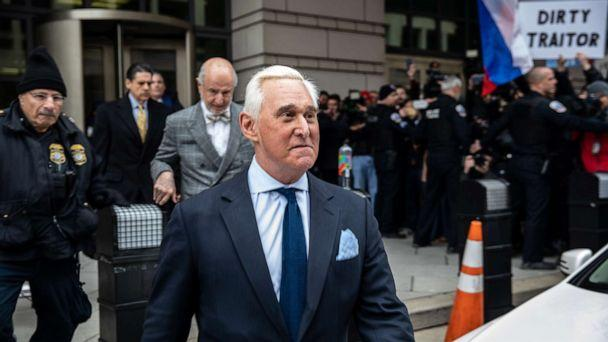 PHOTO: Roger Stone, longtime advisor to President Donald Trump, leaves the U.S. District Courthouse after his arraignment in Washington, D.C., Jan. 29, 2019. (Anadolu Agency via Getty Images, FILE)