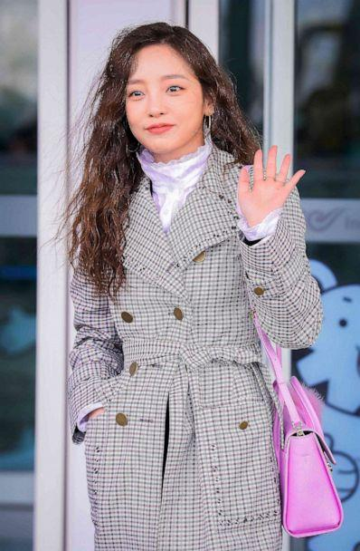 PHOTO: This Feb. 21, 2018, file photo shows K-pop star Goo Hara arriving at Incheon International Airport, west of Seoul. (Str/AFP via Getty Images)