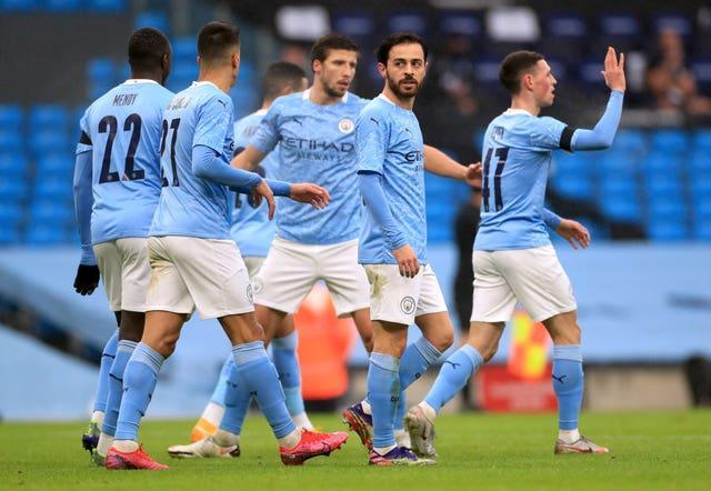 Manchester City eased past Birmingham in the FA Cup