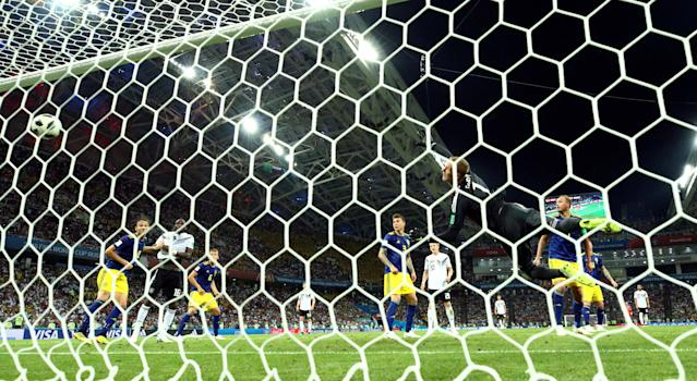 Soccer Football - World Cup - Group F - Germany vs Sweden - Fisht Stadium, Sochi, Russia - June 23, 2018 Germany's Toni Kroos scores their second goal REUTERS/Michael Dalder TPX IMAGES OF THE DAY