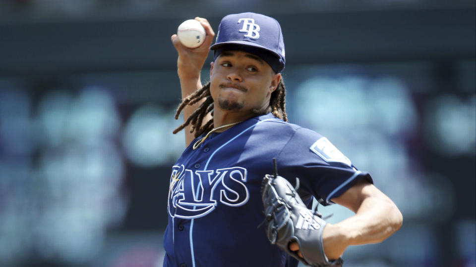 Tampa Bay Rays pitcher Chris Archer's name is in the middle of trade rumors once again. (AP)