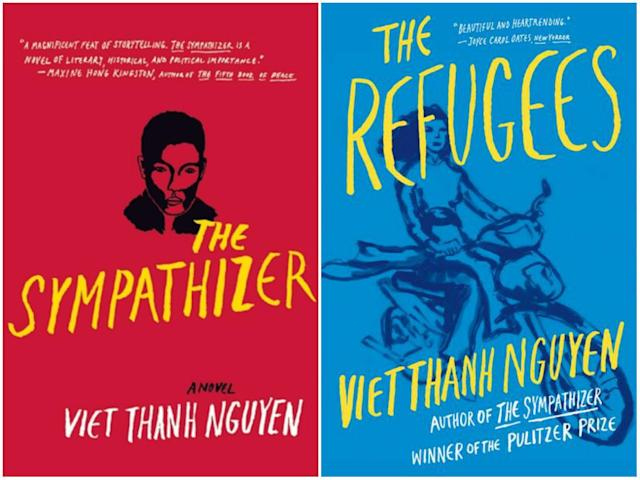 Nguyen's debut novel, <i>The Sympathizer</i> , and short story collection, <i> The Refugees</i> . (Grove Press)