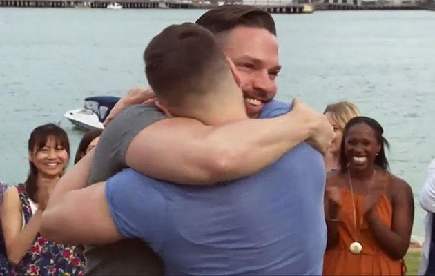 Chris gave Grant the romantic proposal of his dreams. Source: Channel Seven