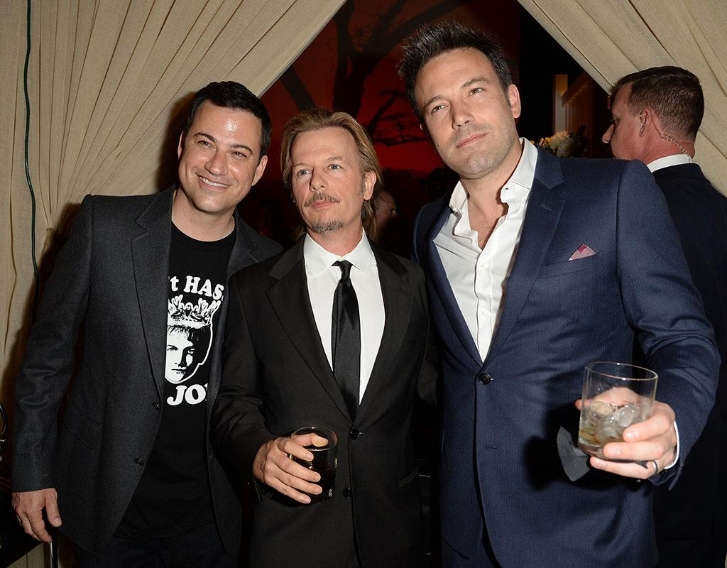 CULVER CITY, CA - JUNE 08:  (L-R) TV personality Jimmy Kimmel, actor David Spade, and actor/director Ben Affleck attend Spike TV's Guys Choice 2013 at Sony Pictures Studios on June 8, 2013 in Culver City, California.  (Photo by Jason Merritt/Getty Images for Spike TV)